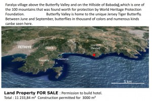 Fethiye Faralya Land For SALE Tourism investment